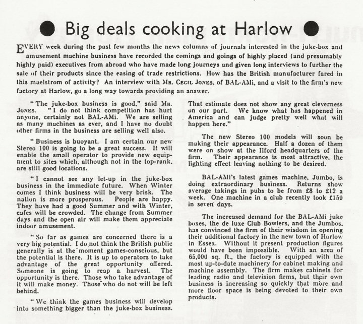 Harlow Factory Opens