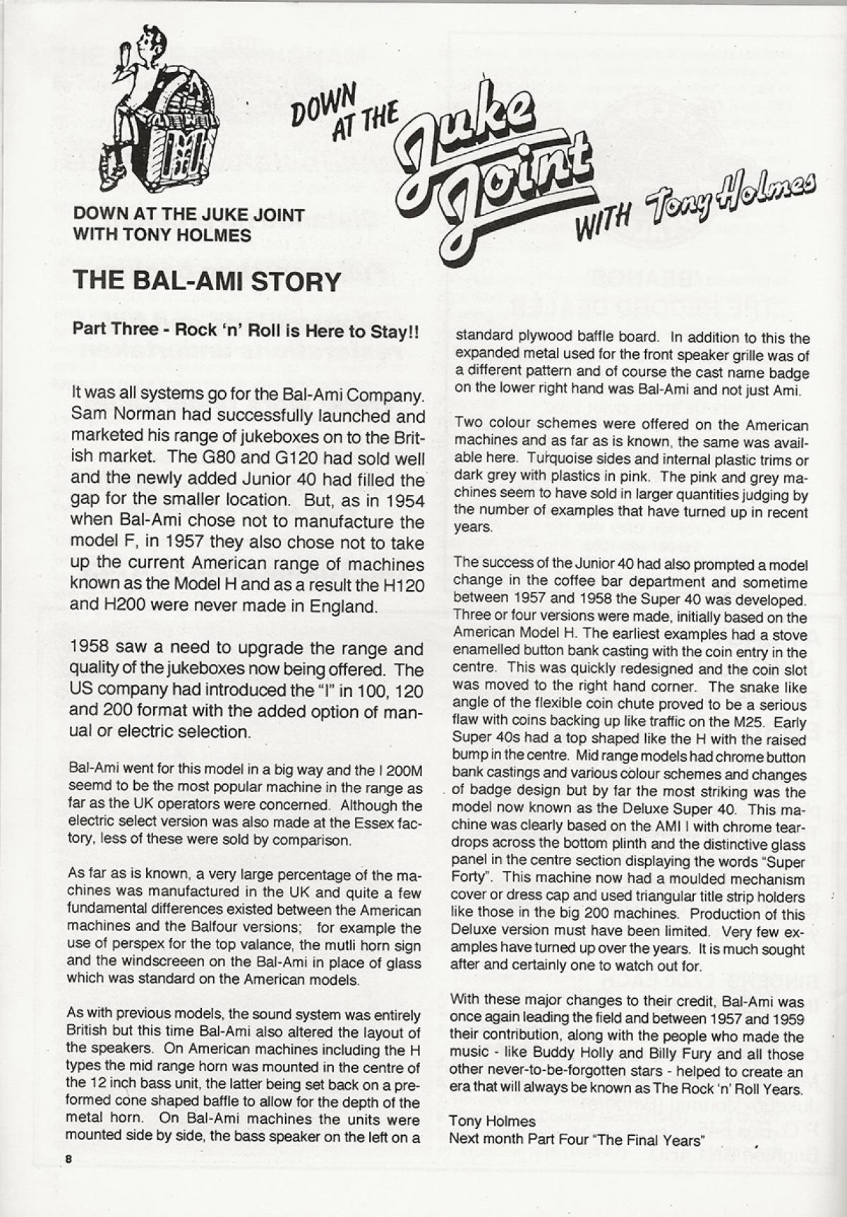 The BAL-AMi Story By Tony Holmes
